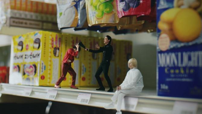 Японская Реклама - Шоколад Morinaga Dars