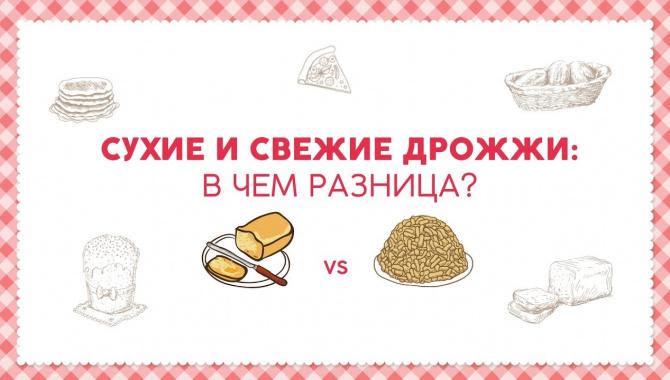 Сухие и свежие дрожжи: в чем разница? (Видео)