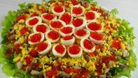 Новогодний салат Северное Сияние - Видео-рецепт