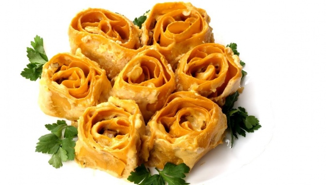 Лазанья Розы. Подарите любимым вкусный букет - Видео-рецепт