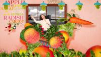 Японская Реклама - Сок Kirin Tropicana (фрукты + овощи)