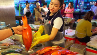 Рыбный рынок Санья (Китай)