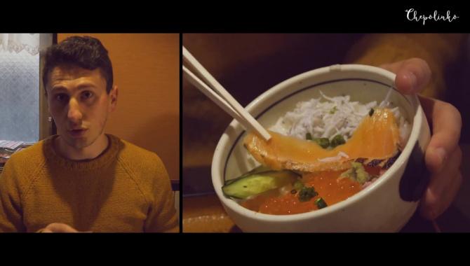 Японская забегаловка - обед в городе Камакура. Что едят японцы (Видео)
