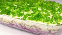 Салат луковый с фаршем - Видео-рецепт