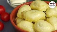 Вареники с картофелем и печенью на пару - Видео-рецепт