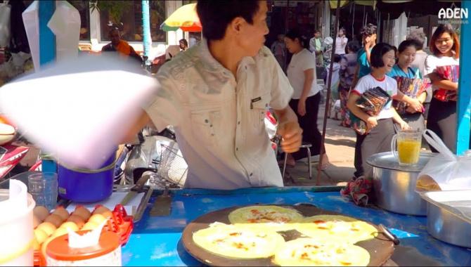 Уличная еда в Мьянме - Рынок Зейджо в Мандалае (Видео)