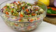 Овощной салат с грибами - Видео-рецепт