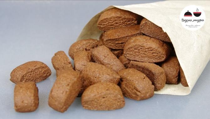Шоколадное песочное печенье - Видео-рецепт