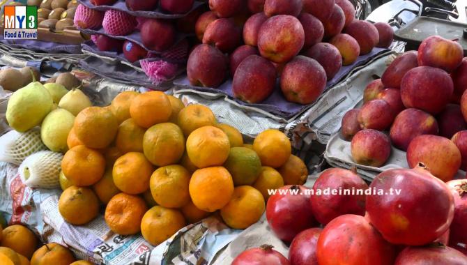 Уличная еда в Индии - Фруктовый рынок Вадале (Видео)