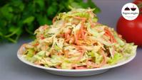 Обалденный праздничный салат с курицей и овощами - Видео-рецепт