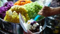Уличная еда во Вьетнаме - Радужный рис (Видео)