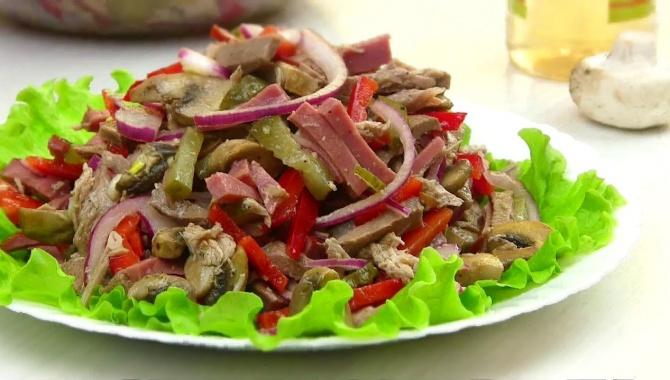 Мясной салат Путь к сердцу - Видео-рецепт