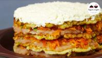 Закусочный торт с капустными блинчиками - Видео-рецепт