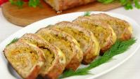 Мясной рулет с капустой - Видео-рецепт
