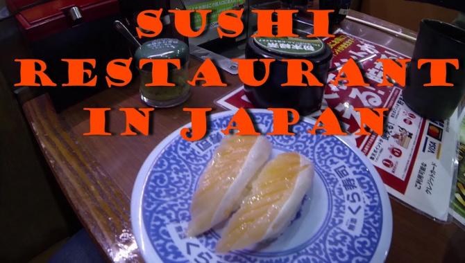 Суши ресторан в Японии (Видео)