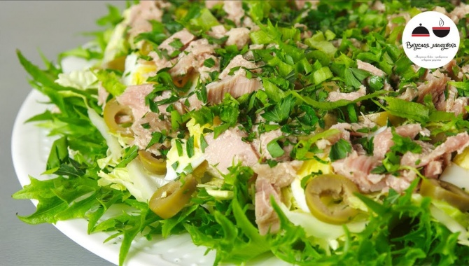 Салат Зеленое море - Видео-рецепт