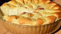 Пирог с творогом и персиками - Видео-рецепт