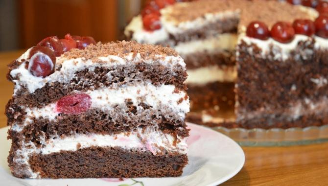 Простенький торт с вишней - Видео-рецепт