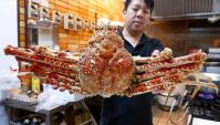 Японская уличная еда - Гигантский краб-паук (Видео)