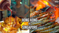 Уличная еда в Азии - Гонконг против Сингапура (Видео)
