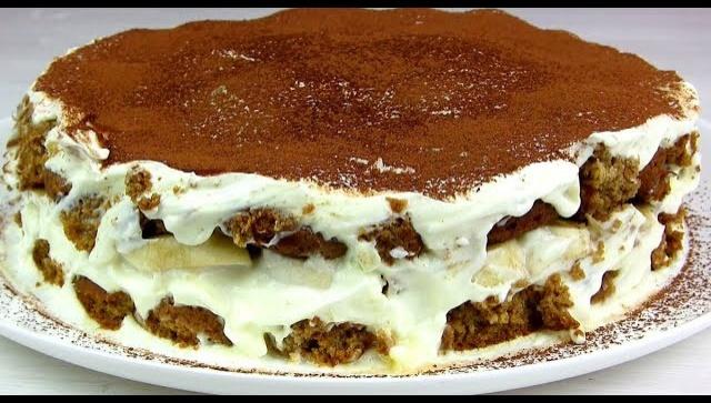 Быстрый торт из печенья - Видео-рецепт