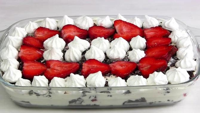Клубничный десерт за 10 минут - Видео-рецепт
