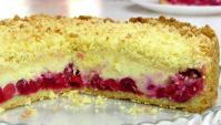 Пирог с вишней и творогом - Видео-рецепт