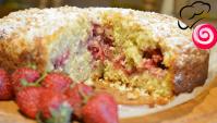 Клубничный пирог на овсянно-кокосовом тесте - Видео-рецепт