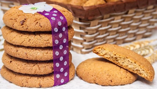 Овсяное печенье с орехами - Видео-рецепт