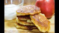 Быстрые оладьи с яблоками - Видео-рецепт