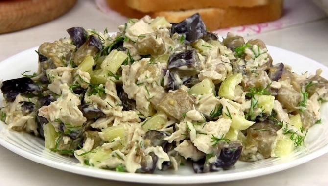 Вкусный салат с баклажанами - Видео-рецепт