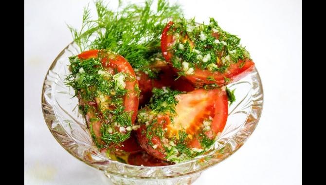 Малосольные помидоры - Видео-рецепт