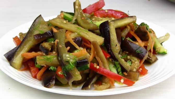 Салат по-корейски из баклажанов - Видео-рецепт