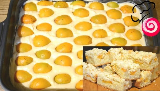 Пирог с абрикосами и мягким штрейзелем - Видео