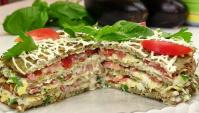 Закусочный Торт из баклажанов - Видео-рецепт