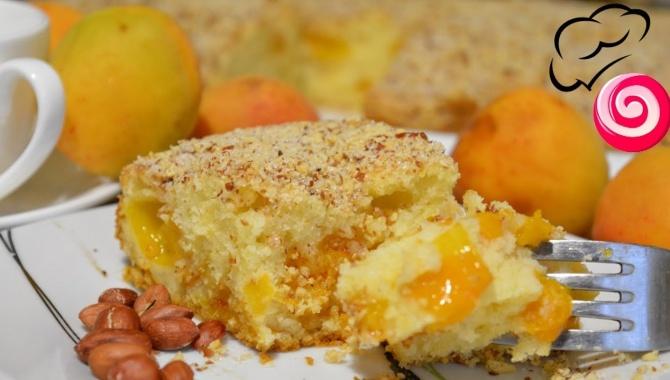 Абрикосовый пирог с арахисовой посыпкой - Видео-рецепт