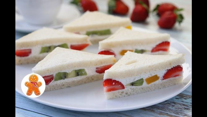 Японские Сэндвичи с Фруктами - Видео-рецепт
