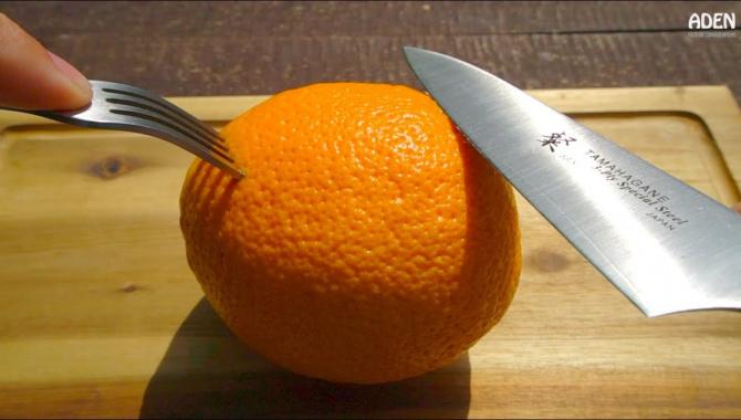 Японский самурайский нож против фруктов и овощей (Видео)