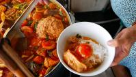 Уличная еда во Вьетнаме - Крабовый Суп с лапшой Bun Rieu Cua (Видео)