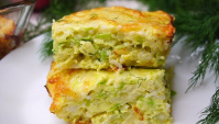 Запеканка из кабачков с рисом и сыром - Видео-рецепт