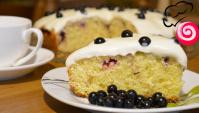 Творожный пирог с ягодами и сметанным кремом - Видео-рецепт