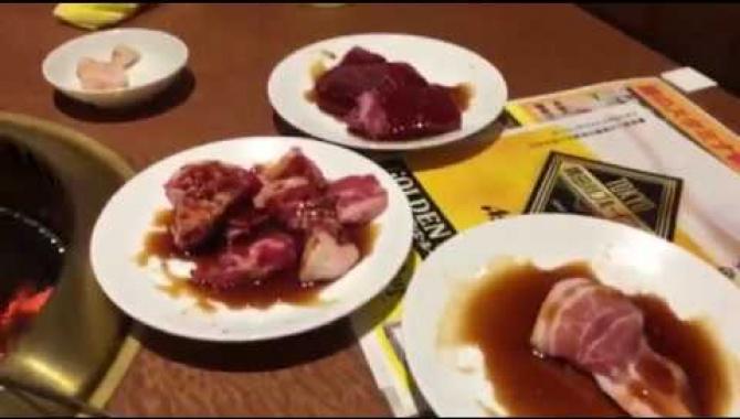 VLOG Японская еда. Якинику ресторан (Видео)