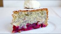 Маковый пирог со сливами и яблоками - Видео-рецепт