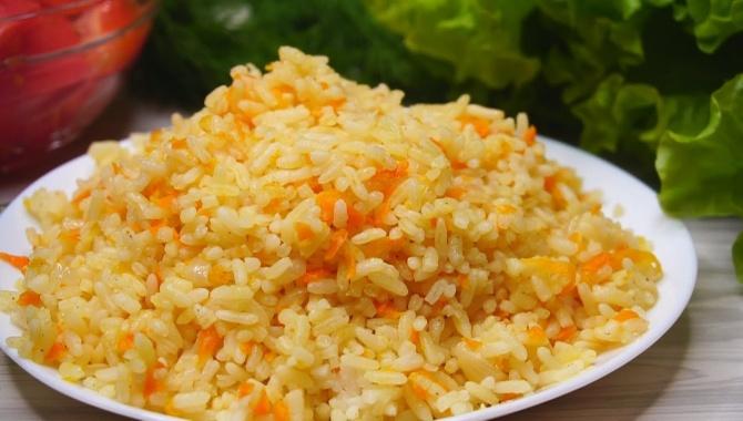 Рис с луком и морковью в духовке - Видео-рецепт