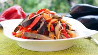 Салат из баклажанов по-корейски - Видео-рецепт
