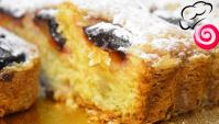 Быстрый и бесподобно вкусный пирог со сливами - Видео-рецепт