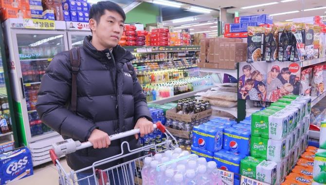 Покупка еды в Корее. Встретили новый год (Видео)