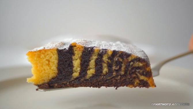 Пирог Зебра  - Видео-рецепт