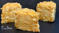 Торт Наполеон без выпечки за 20 минут - Видео-рецепт