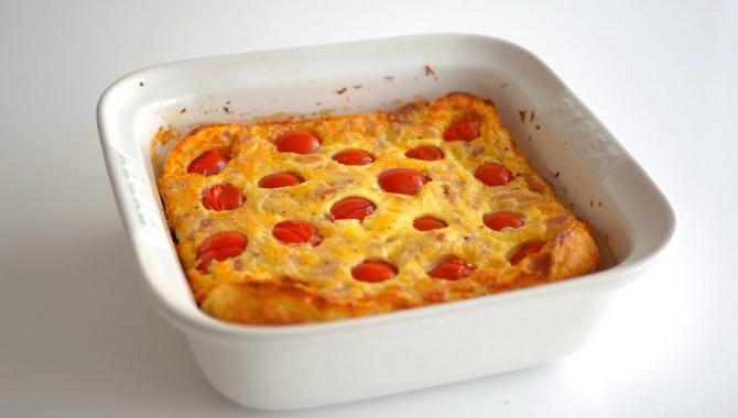 Клафути с помидорами черри, сыром и курицей - Видео-рецепт